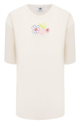 Женская хлопковая футболка ADIDAS ORIGINALS бежевого цвета, арт. GP3497 | Фото 1