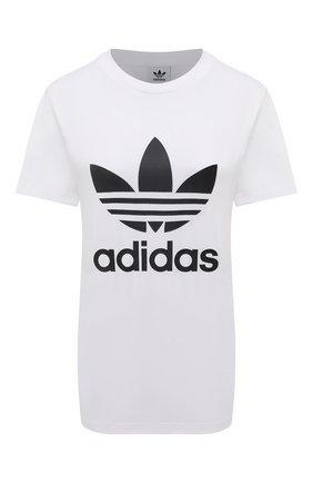 Женская футболка ADIDAS ORIGINALS белого цвета, арт. GN2899 | Фото 1
