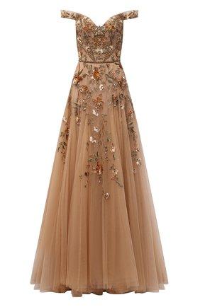 Женское платье MARCHESA светло-бежевого цвета, арт. M31809   Фото 1