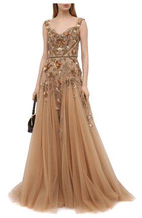 Женское платье MARCHESA светло-бежевого цвета, арт. M31809   Фото 2