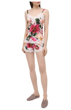 Женские шорты из шелка и хлопка DOLCE & GABBANA розового цвета, арт. 03A02T/FSA0G | Фото 2