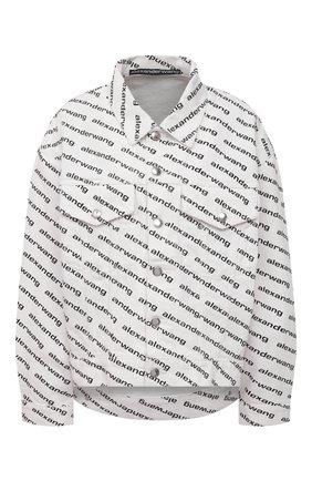 Женская джинсовая куртка DENIM X ALEXANDER WANG черно-белого цвета, арт. 4DC1212891 | Фото 1