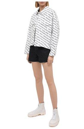 Женская джинсовая куртка DENIM X ALEXANDER WANG черно-белого цвета, арт. 4DC1212891 | Фото 2