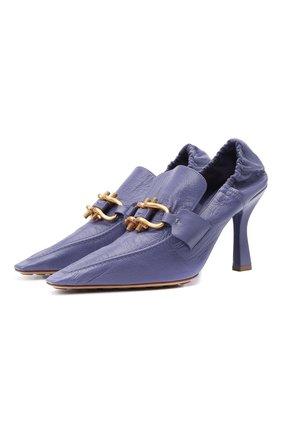 Женские кожаные туфли BOTTEGA VENETA сиреневого цвета, арт. 651359/VBP10 | Фото 1