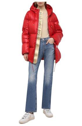 Женский пуховая куртка MICHAEL MICHAEL KORS красного цвета, арт. MH02J25CDF | Фото 2