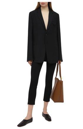 Женские брюки из хлопка и вискозы MICHAEL MICHAEL KORS черного цвета, арт. MH03HF34BB | Фото 2