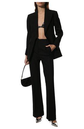Женские кожаные туфли gianvito 105 GIANVITO ROSSI серебряного цвета, арт. G28470.15RIC.METARGE   Фото 2