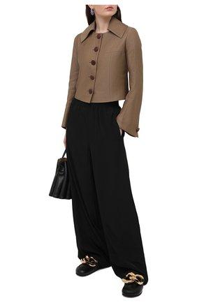 Женский жакет из шерсти и льна LANVIN темно-бежевого цвета, арт. RW-JA718U-4797-P21 | Фото 2