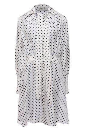 Женское шелковое платье LANVIN черно-белого цвета, арт. RW-DR354I-4839-P21 | Фото 1