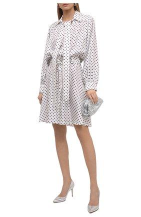 Женское шелковое платье LANVIN черно-белого цвета, арт. RW-DR354I-4839-P21 | Фото 2