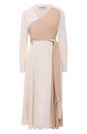 Женское платье LANVIN белого цвета, арт. RW-DR315B-4792-P21   Фото 1