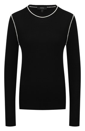 Женский кашемировый пуловер THEORY черного цвета, арт. K1118735 | Фото 1
