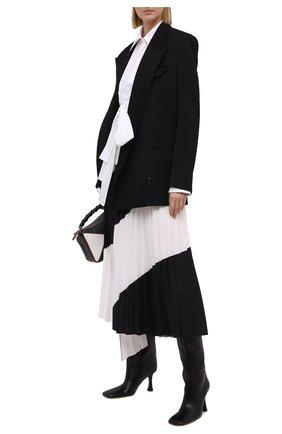 Женская хлопковая рубашка HELMUT LANG белого цвета, арт. K10HW506 | Фото 2