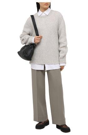 Женский шерстяной свитер HELMUT LANG серого цвета, арт. K10HW701 | Фото 2