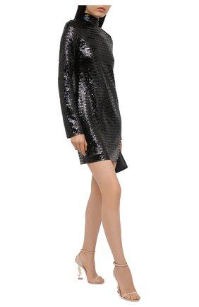Женское платье с пайетками HELMUT LANG черного цвета, арт. K10HW602 | Фото 2