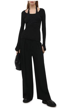 Женский хлопковый пуловер HELMUT LANG черного цвета, арт. K10HW513 | Фото 2