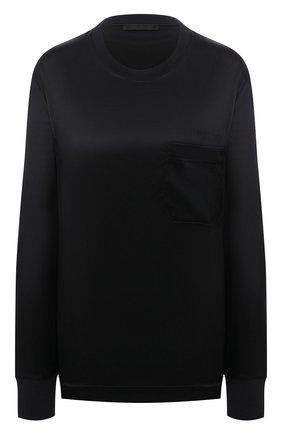 Женская шелковый лонгслив HELMUT LANG черного цвета, арт. K10DW502 | Фото 1