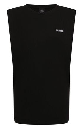Женская хлопковая футболка P.E. NATION черного цвета, арт. 20PE4W035 | Фото 1