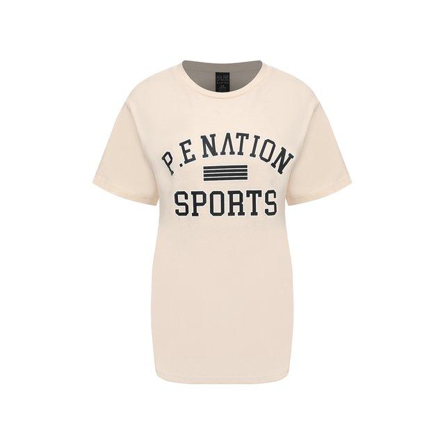Хлопковая футболка P.E. Nation