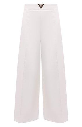 Женские хлопковые брюки VALENTINO белого цвета, арт. VB3RB47575Y | Фото 1