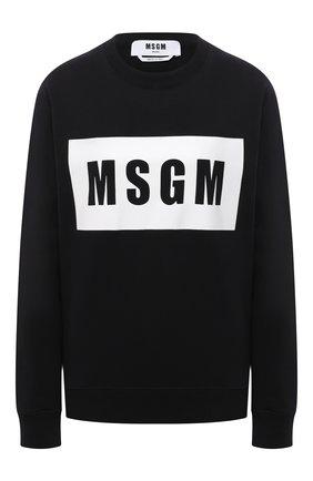 Женский хлопковый свитшот MSGM черного цвета, арт. 3041MDM96 217299 | Фото 1
