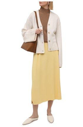 Женская кашемировая юбка LORO PIANA желтого цвета, арт. FAL5211 | Фото 2