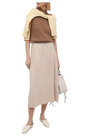 Женская кашемировая юбка LORO PIANA светло-бежевого цвета, арт. FAL5211 | Фото 2