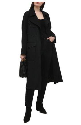 Женские замшевые ботильоны vera STUART WEITZMAN черного цвета, арт. S0490 | Фото 2