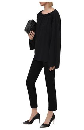 Женские текстильные туфли anny STUART WEITZMAN черного цвета, арт. S0601 | Фото 2