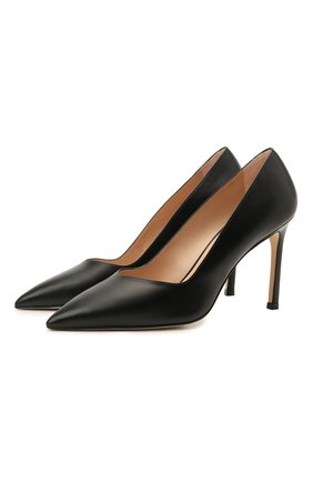 Женские кожаные туфли anny STUART WEITZMAN черного цвета, арт. S5255 | Фото 1