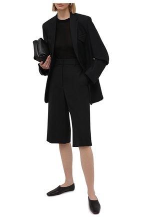 Женский пуловер из вискозы и шелка RICK OWENS черного цвета, арт. RP21S3202/RC   Фото 2