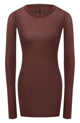 Женский пуловер из вискозы и шелка RICK OWENS коричневого цвета, арт. RP21S3202/RC | Фото 1