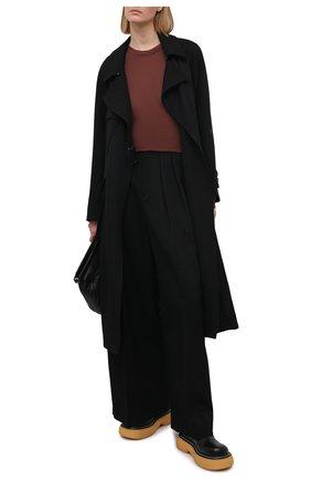 Женский пуловер из вискозы и шелка RICK OWENS коричневого цвета, арт. RP21S3202/RC | Фото 2