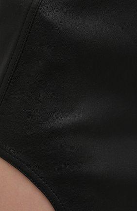 Женская юбка RICK OWENS черного цвета, арт. RP21S3347/LS   Фото 5