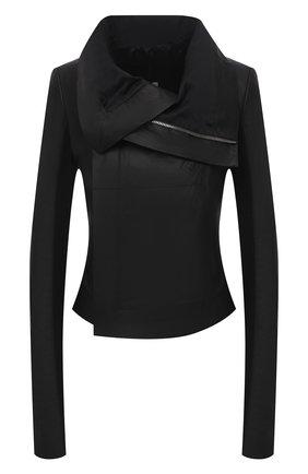 Женская кожаная куртка RICK OWENS черного цвета, арт. RP21S3708/LP | Фото 1