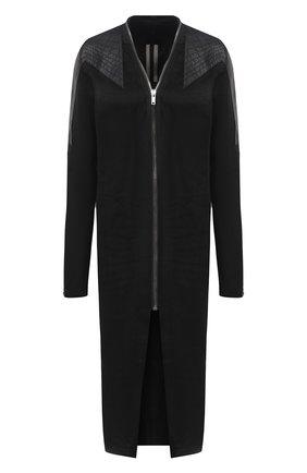 Женское кожаное пальто RICK OWENS черного цвета, арт. RP21S3945/LBAB | Фото 1