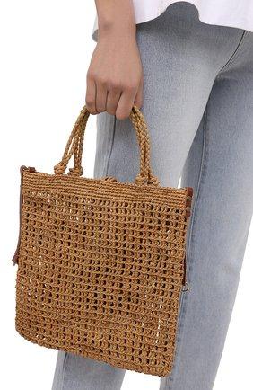Женская сумка hudson medium SANS-ARCIDET бежевого цвета, арт. HUDS0N BAG/M   Фото 2