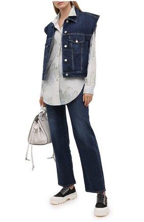 Женский джинсовый жилет 3X1 синего цвета, арт. WJ0B21095/REAL BLUE | Фото 2