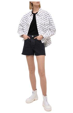 Женские джинсовые шорты 3X1 серого цвета, арт. WS0101089/RENAISSANCE | Фото 2