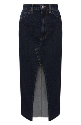 Женская джинсовая юбка 3X1 синего цвета, арт. WS0021095/REAL BLUE | Фото 1