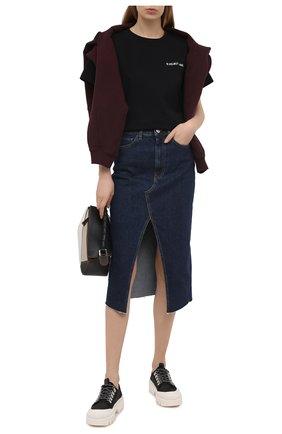 Женская джинсовая юбка 3X1 синего цвета, арт. WS0021095/REAL BLUE | Фото 2
