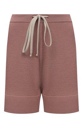 Женские шерстяные шорты RICK OWENS темно-розового цвета, арт. RP21S3650/M   Фото 1