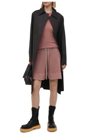Женские шерстяные шорты RICK OWENS темно-розового цвета, арт. RP21S3650/M   Фото 2