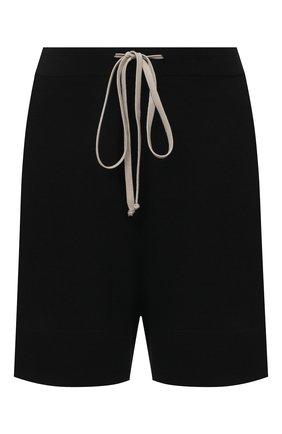 Женские шерстяные шорты RICK OWENS черного цвета, арт. RP21S3650/M   Фото 1