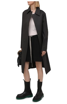 Женские шерстяные шорты RICK OWENS черного цвета, арт. RP21S3650/M   Фото 2