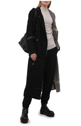 Женский шерстяной пуловер RICK OWENS светло-серого цвета, арт. RP21S3629/M   Фото 2