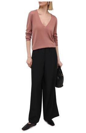 Женский кашемировый пуловер RICK OWENS темно-розового цвета, арт. RP21S3623/WS   Фото 2