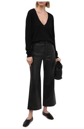 Женский кашемировый пуловер RICK OWENS черного цвета, арт. RP21S3623/WS   Фото 2