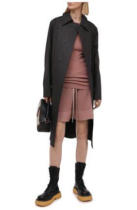 Женский шерстяной пуловер RICK OWENS темно-розового цвета, арт. RP21S3621/RIBM   Фото 2