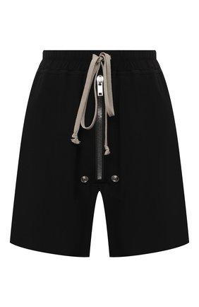 Женские шорты RICK OWENS черного цвета, арт. RP21S3310/CC   Фото 1